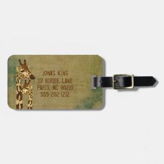 Etiqueta de bronce de oro del equipaje de las jira etiquetas de equipaje