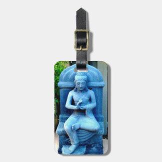 etiqueta de Buda de la piedra azul Etiquetas Maleta