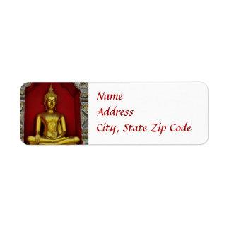 Etiqueta de Buda del oro Etiqueta De Remitente