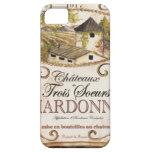 Etiqueta de Chardonnay del vintage iPhone 5 Protector