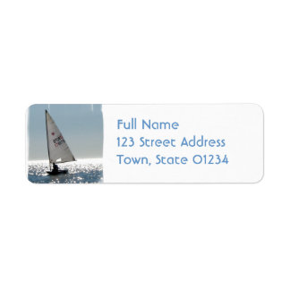 Etiqueta de correo a solas de la vela etiqueta de remitente