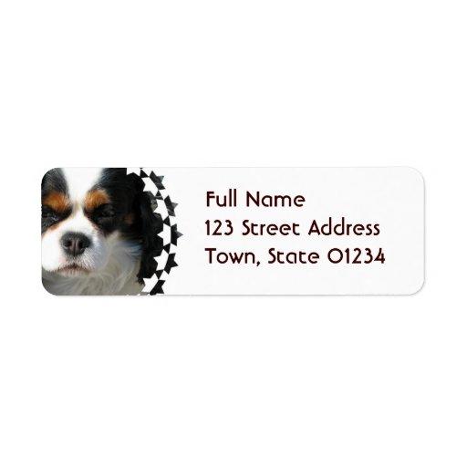 Etiqueta de correo arrogante del perro del perro d etiqueta de remite