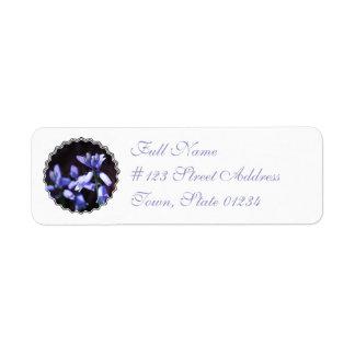 Etiqueta de correo azul de las flores de Bell Etiqueta De Remitente