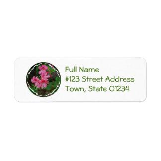 Etiqueta de correo de Bush de la azalea Etiqueta De Remitente