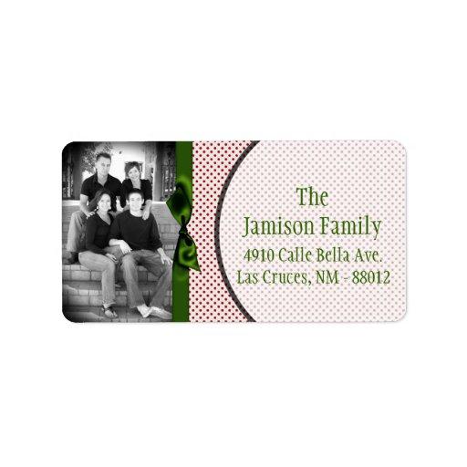 Etiqueta de correo de encargo personalizada del na etiquetas de dirección