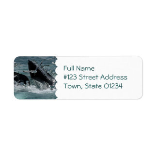 Etiqueta de correo de la ballena jorobada etiquetas de remite
