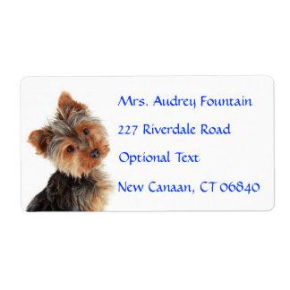 Etiqueta de correo de la dirección del nombre del  etiqueta de envío
