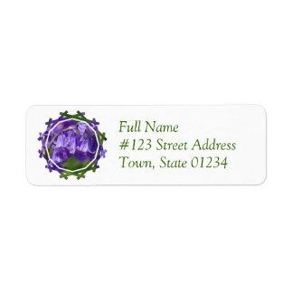 Etiqueta de correo de la flor de Bell Etiquetas De Remite