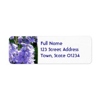 Etiqueta de correo de la foto de la flor de Bell Etiquetas De Remite
