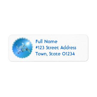 Etiqueta de correo de la imagen de los trucos de etiquetas de remite