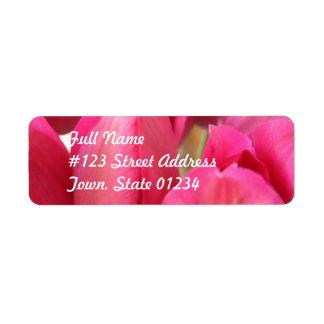 Etiqueta de correo de los bulbos del tulipán etiquetas de remite