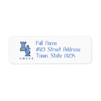 Etiqueta de correo de los pedazos de ajedrez etiqueta de remite