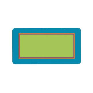 Etiqueta de correo del cuidado de niños de la mano etiquetas de dirección