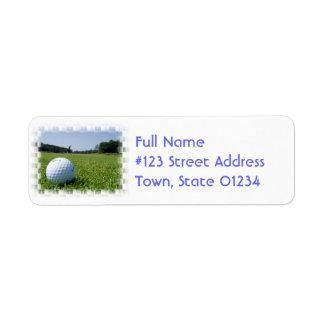 Etiqueta de correo del espacio abierto del golf etiqueta de remite