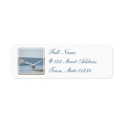 Etiqueta de correo del remite de la gaviota etiqueta de remite