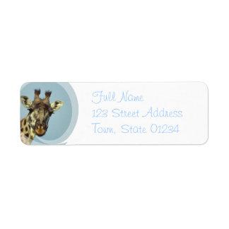 Etiqueta de correo del remite del diseño de la etiqueta de remite