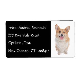 Etiqueta de correo del remite del nombre del perro etiquetas de envío