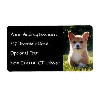 Etiqueta de correo del remite del nombre del perro etiqueta de envío