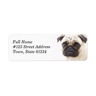 Etiqueta de correo del remite del perro del barro etiquetas de remite