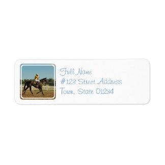 Etiqueta de correo excelente del caballo de raza etiquetas de remite