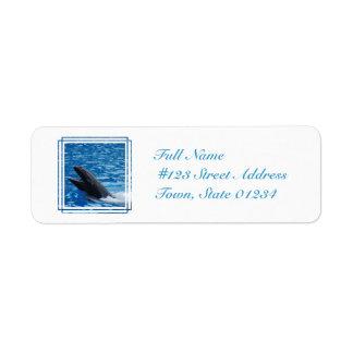 Etiqueta de correo falsa de la orca etiqueta de remitente