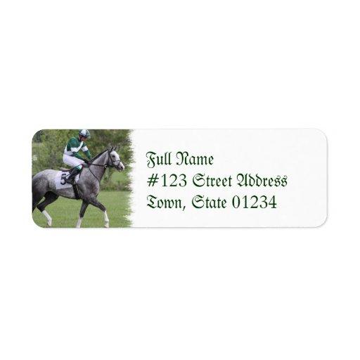 Etiqueta de correo gris Dappled del caballo de Etiqueta De Remite
