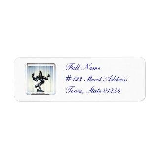Etiqueta de correo hindú de Shiva Etiqueta De Remite