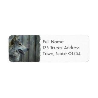 Etiqueta de correo mexicana del lobo etiqueta de remite