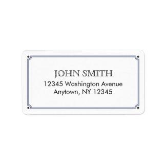 Etiqueta de correo simple etiqueta de dirección