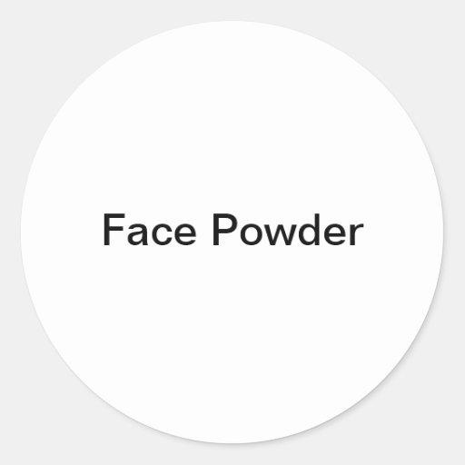 Etiqueta de Cosmentic del polvo de cara