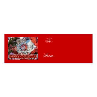 Etiqueta de cristal del regalo del ornamento del n tarjetas de visita mini