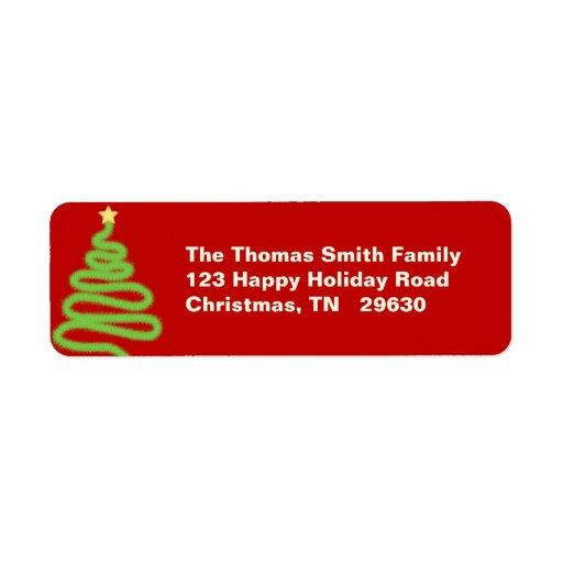 Etiqueta de devolución de ChristmasTree Etiquetas De Remite