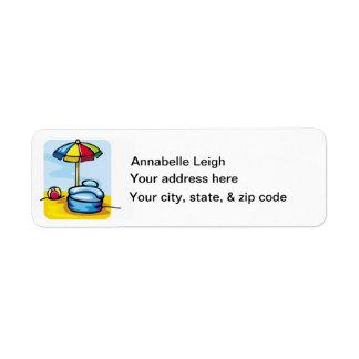 Etiqueta de devolución de la dirección de la diver etiqueta de remite