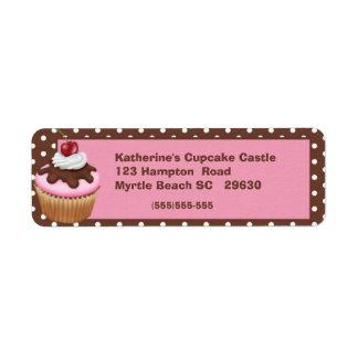Etiqueta de devolución de la panadería etiquetas de remite