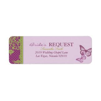 Etiqueta de devolución del ligón de los besos de l etiquetas de remite
