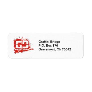 Etiqueta de devolución del puente de la pintada etiqueta de remitente