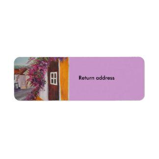etiqueta de devolución etiquetas de remite