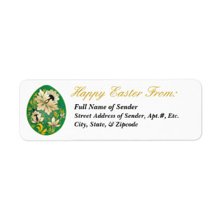 Etiqueta de devolución feliz 1 de Pascua - arte Etiqueta De Remitente
