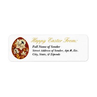 Etiqueta de devolución feliz 2 de Pascua - arte Etiquetas De Remite