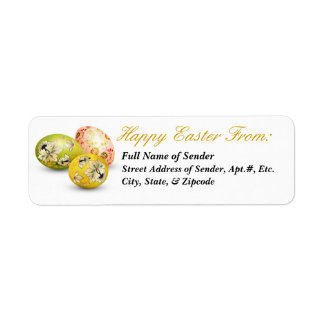 Etiqueta de devolución feliz 2 de Pascua - arte Etiqueta De Remitente