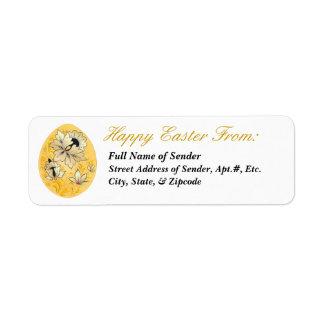 Etiqueta de devolución feliz 3 de Pascua - arte Etiquetas De Remite