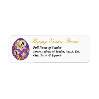 Etiqueta de devolución feliz 4 de Pascua - arte Etiqueta De Remite