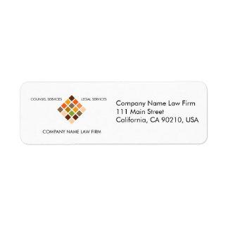 Etiqueta de devolución moderna de la serie No.14 d Etiqueta De Remite