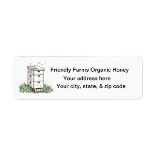 Etiqueta de devolución orgánica del apicultor del  etiquetas de remite