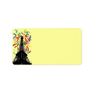 Etiqueta de dirección abstracta de la torre de Art