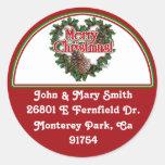 Etiqueta de dirección adornada del navidad