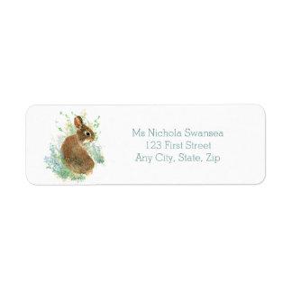 Etiqueta de dirección animal linda del conejo de c