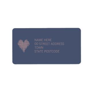 Etiqueta de dirección azul del añil