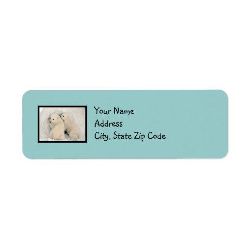 Etiqueta de dirección azul del huevo del petirrojo