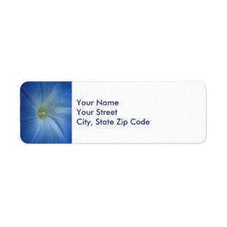 Etiqueta de dirección azul divina del primer de la